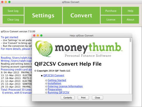 QIF2CSV Convert