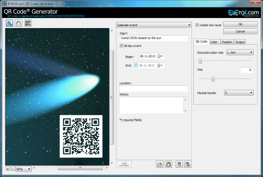 QR Code Generator Plugin for Adobe Photoshop
