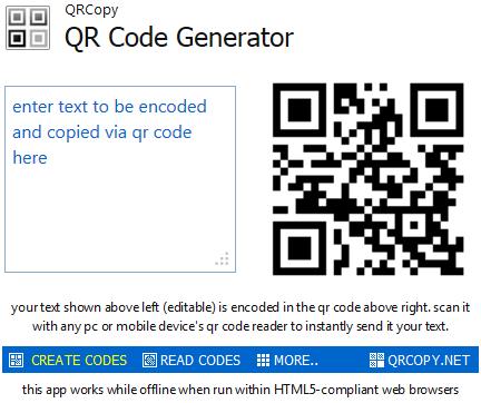 QRCopy Browser App
