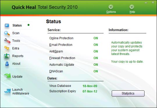 Quick Heal Total Security 2010 32-bit