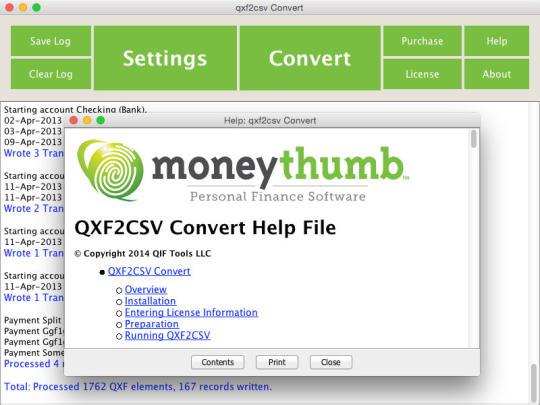 QXF2CSV Convert