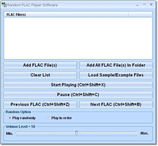 Random FLAC Player Software