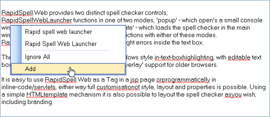 RapidSpell Web Java