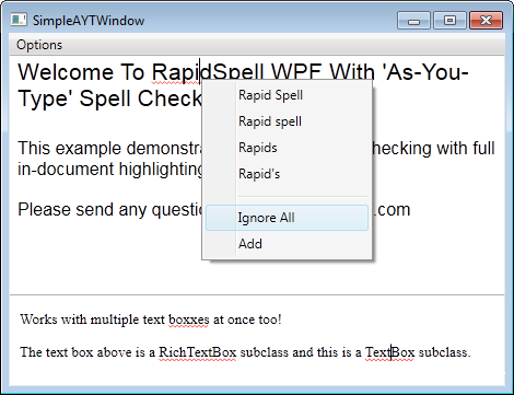 RapidSpell WPF
