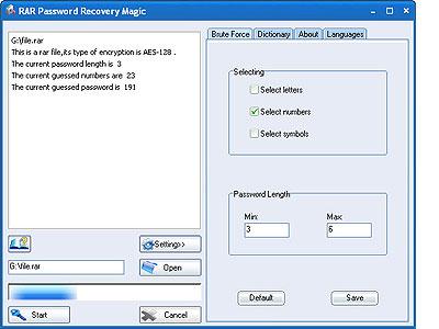 RAR Password Recovery Magic