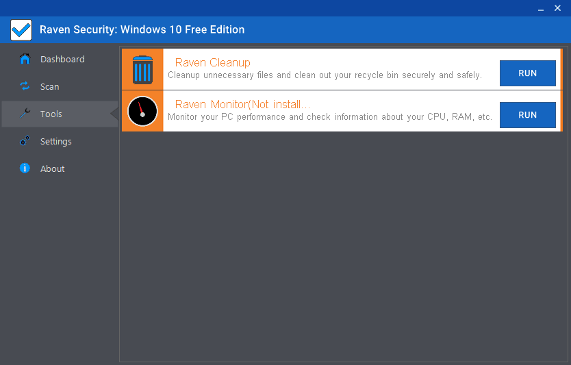 Raven Security: Windows 10 Edition