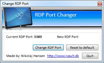 RDP Port Changer