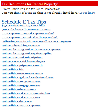 Real Estate Tax Tips