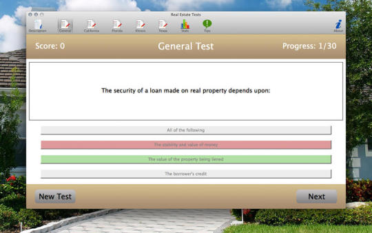 Real Estate Tests
