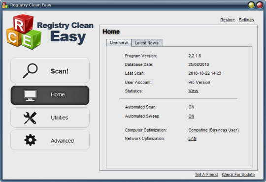 Registry Clean Easy Pro