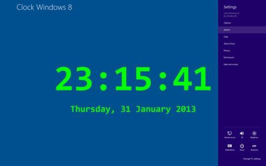 Reloj Windows 8