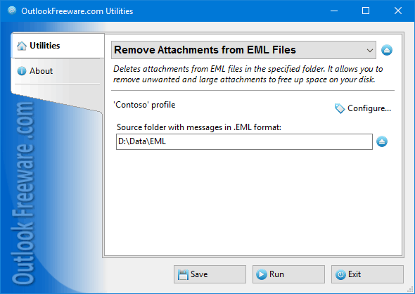Remove Attachments from EML Files