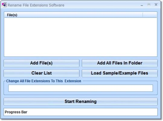 Rename File Extensions Software