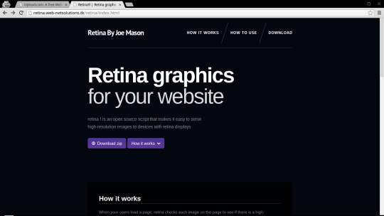 Retina graphics