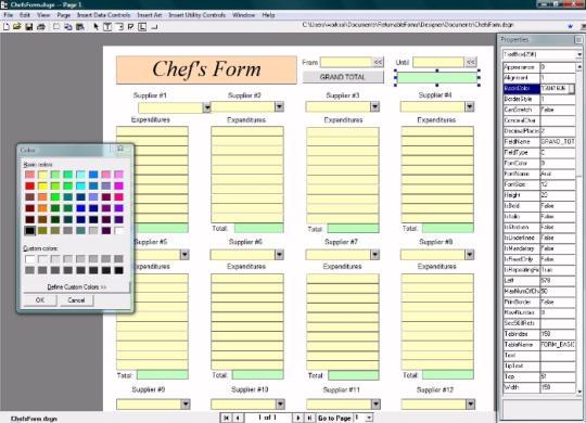 Returnable Forms Designer