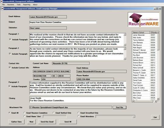 Reunionware Management Software
