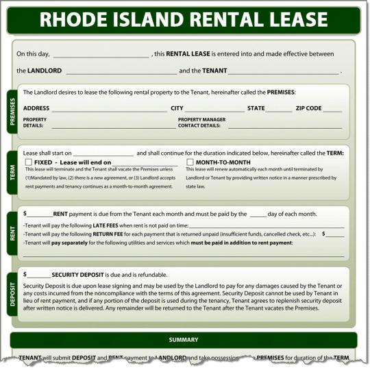 Rhode Island Rental Lease