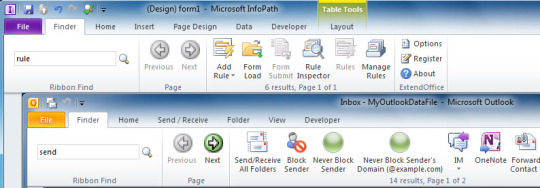Ribbon Finder for Office Professional Plus 2010 (32-bit)
