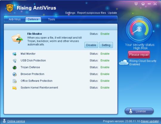 Rising Antivirus 2011