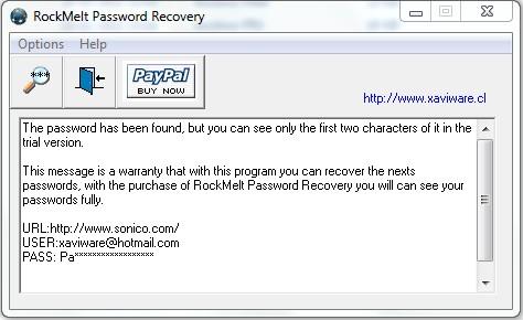 RockMelt Password Recovery