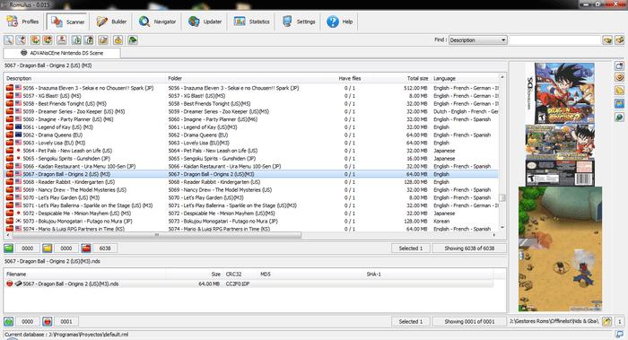 Бесплатно скачать Romulus - Rom Manager для Windows XP
