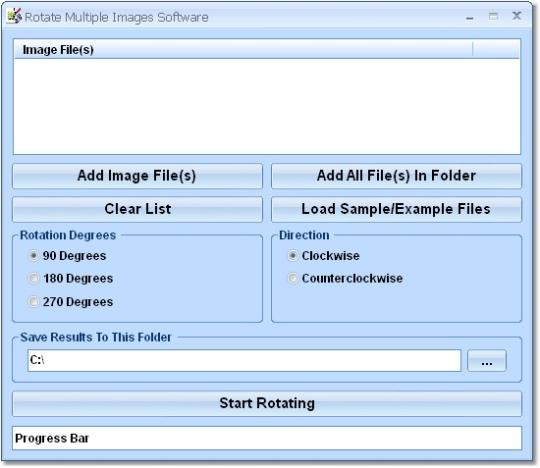 Rotate Multiple Images Software