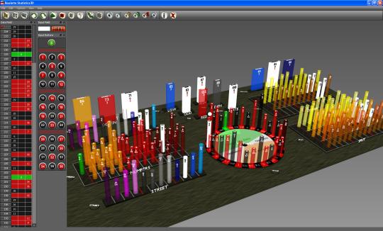 Roulette Statistics3D