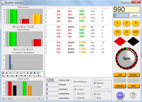 Roulette Statistics