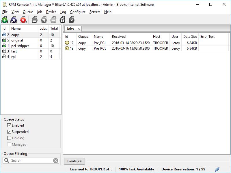RPM Remote Print Manager Elite 64-bit
