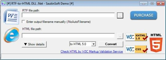 RTF-to-HTML DLL .Net