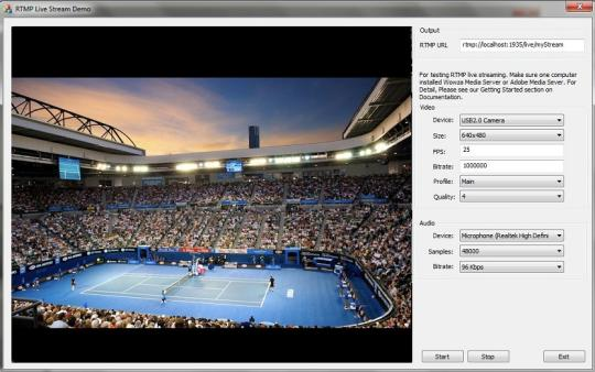 RTMP Streaming Directshow Filter