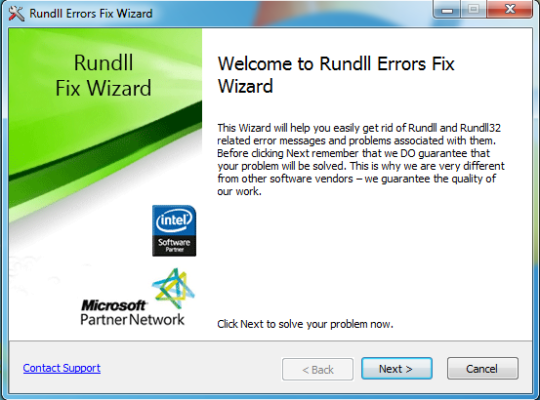 Rundll Errors Fix Wizard