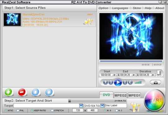 RZ AVI to DVD Converter