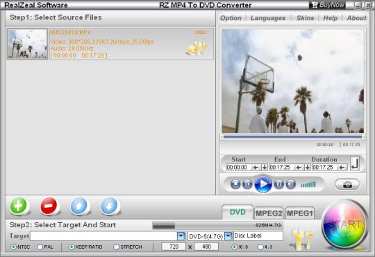 RZ MP4 to DVD Converter