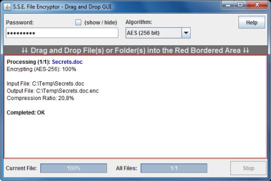 S.S.E. File Encryptor for PC