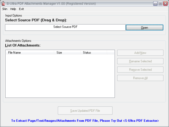 S-Ultra PDF Attachments Manager
