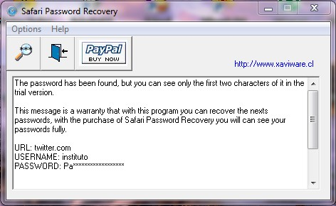 Safari Password Recovery