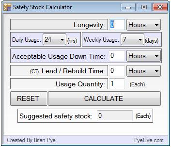 Safety Stock Calculator