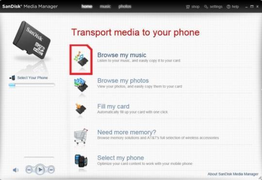 SanDisk Media Manager