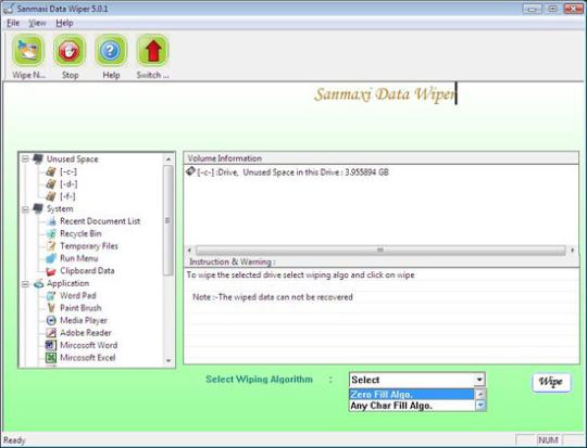 Sanmaxi Data Wiper