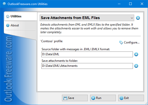 Save Attachments from EML Files