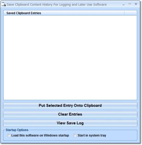 Save Clipboard Content History For Logging and Later Use Software