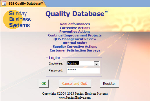 SBS Quality Database