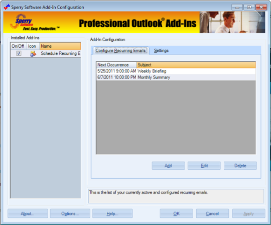 Schedule Recurring Email for Outlook 2007/Outlook 2010 (32-bit)