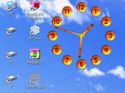 Screen Clock
