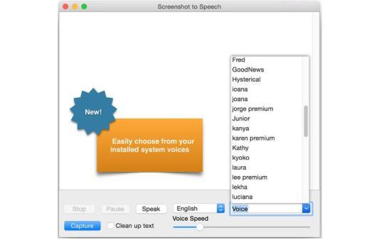 Screenshot to Speech