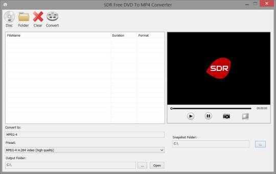 SDR Free DVD to MP4 Converter