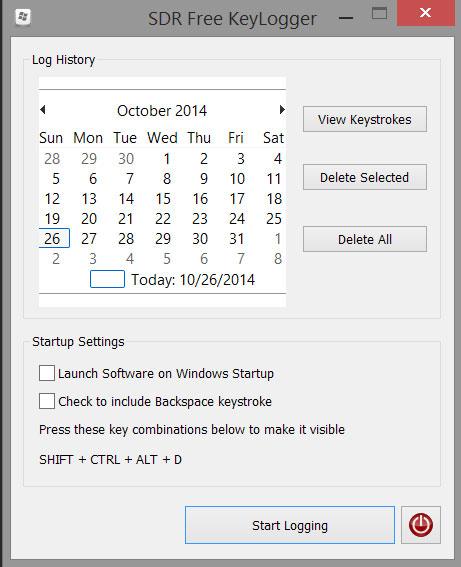 SDR Free Keylogger