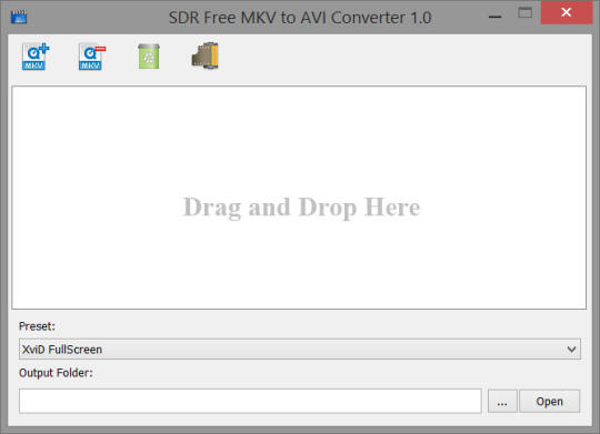 SDR Free MKV to AVI Converter
