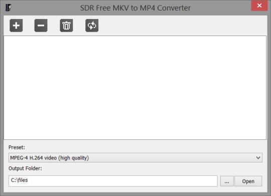 SDR Free MKV to MP4 Converter